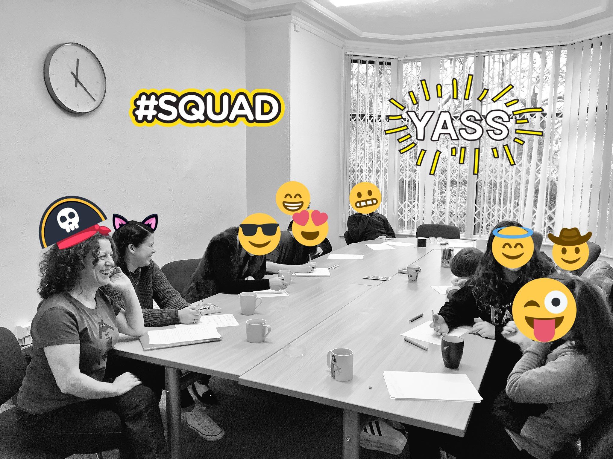 Image of teens in meeting